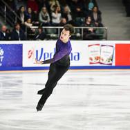 Dmitri Aliev during his free skating at the Russian National Championships 2020.  Дмитрий Алиев в произвольной программе на Чемпионате России 2020.