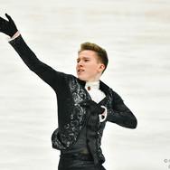 "Andrei Mozalev performing his short program at the ISU Grand Prix Rostelecom Cup 2020.  Андрей Мозалев в короткой программе на ИСУ Гран-при ""Кубок Ростелеком"" 2020."