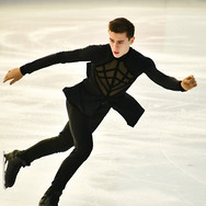 Luc Maierhofer performing his free program at the 2020 Bavarian Open.
