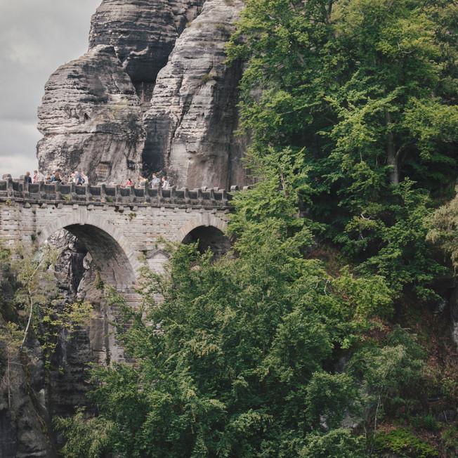 Bastei Bridge, Saxon Switzerland National Park.