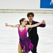 Oona Brown / Gage Brown performing their rhythm dance at the Bavarian Open 2020.