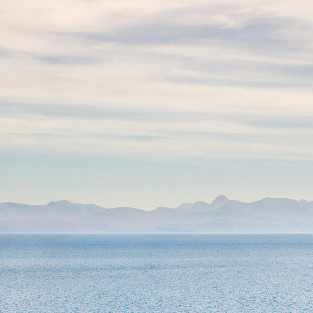 The view from the Isle of Skye.