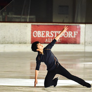 Shun Sato during the practice at the 2020 Bavarian Open.
