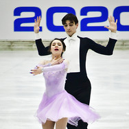 Chelsea Verhaegh & Sherim Van Geffen performing their rhythm dance at the 2020 Bavarian Open.