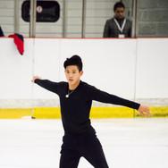Eric Liu during the free  skating practice at the ISU Junior Grand Prix Riga Cup 2019.