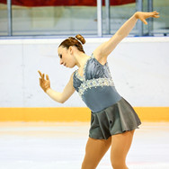 Chiara Calderone during the free skating at the Coupe du Printempts 2016.
