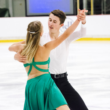 Anne-Marie Wolf / Max Liebers performing their free dance at the ISU Junior Grand Prix Riga Cup 2019.