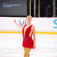 Elodie Eudine during her Short Program at the ISU Junior Grand Prix Riga Cup 2019.