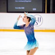 Regina Schermann during her Short Program at the ISU Junior Grand Prix Riga Cup 2019.