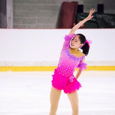 Rion Sumiyoshi performing her free program at the ISU Junior Grand Prix Riga 2019.