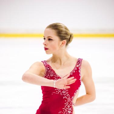Lenne van Gorp during her Short Program at the ISU Junior Grand Prix Riga Cup 2019.