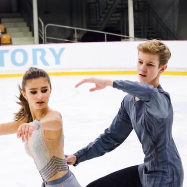 Sofya Tyutyunina / Alexander Shustitskiy performing their free dance at the ISU Junior Grand Prix Riga Cup 2019.