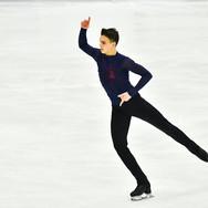 """Makar Ignatov performing his free skating at the Rostelecom Cup 2020.   Макар Игнатов в произвольной программе на ИСУ Гран-при """"Кубок Ростелеком"""" 2020."""