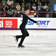 Artur Danielian during his free skating at the Russian National Championships 2020.  Артур Даниелян в произвольной программе на Чемпионате России 2020.