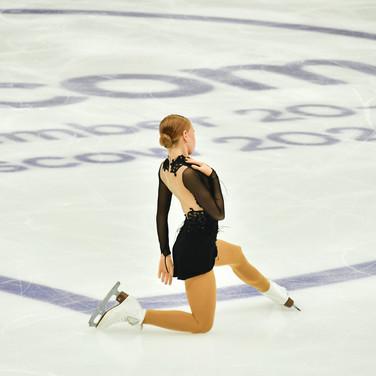 "Eva-Lotta Kiibus performing her short program at the Rostelecom Cup 2020.  Ева-Лотта Киибус в короткой программе на ИСУ Гран-при ""Кубок Ростелеком"" 2020."
