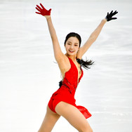 Marin Honda performing her short program at the 2020 Bavarian Open.