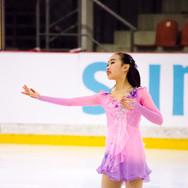 Rino Matsuike during her Short Program at the ISU Junior Grand Prix Riga Cup 2019.