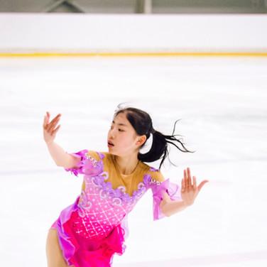 Rion Sumiyoshi during the practice at the ISU Junior Grand Prix Riga Cup 2019.