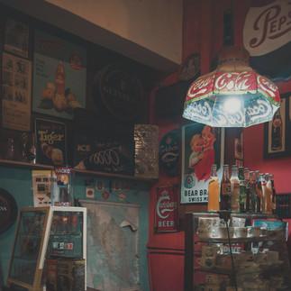 Old bar decotations.