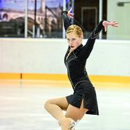 Anastasia Kononenko during the free skating at the Coupe du Printempts 2016.
