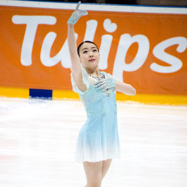 Rika Kihira during the short program at the Challenge Cup 2019.