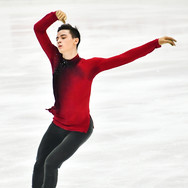 Luc Maierhofer performing his short program at the 2020 Bavarian Open.