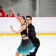 Elizaveta Khudaiberdieva / Andrey Filatov performing their free dance at the ISU Junior Grand Prix Riga Cup 2019.