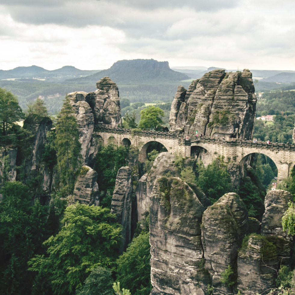 Bastei Bridge, Saxon Switzerland National Park.