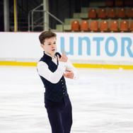 Liam Kapeikis performing his free program at the ISU Junior Grand Prix Riga 2019.