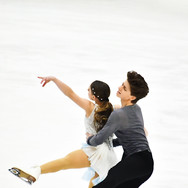 Oona Brown and Gage Brown performing their free dance at the 2020 Bavarian Open.