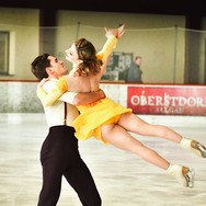 Marie Jade Lauriault / Romain Le Gac during the free dance practice at the 2020 Bavarian Open.
