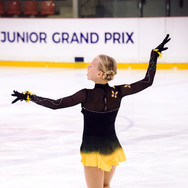 Niina Petrokina during her Short Program at the ISU Junior Grand Prix Riga Cup 2019.