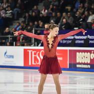 Anastasia Gracheva during the free skating at the Russian National Championships 2020.   Анастасия Грачёва во время произвольной программы на Чемпионате России 2020.