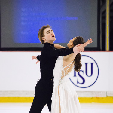 Natalie D'Alessandro / Bruce Waddell performing their free dance at the ISU Junior Grand Prix Riga Cup 2019.
