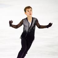 Daniil Samsonov during the free  skating practice at the ISU Junior Grand Prix Riga Cup 2019.