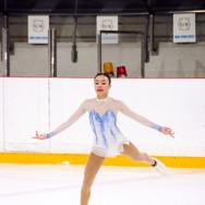 Isabelle Inthisone during her Short Program at the ISU Junior Grand Prix Riga Cup 2019.