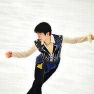 Shun Sato performing his free program at the 2020 Bavarian Open.