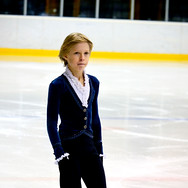 Stephen Gogolev during the free skating at the Coupe du Printempts 2016.