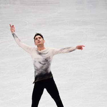 Max Aaron performing his short program at the ISU World Championships 2018.