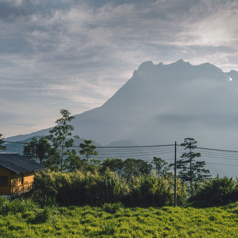 The view on the mount Kinabalu.