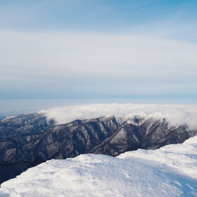 The view from Mount Zao.