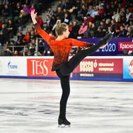 Leonid Sviridenko during his free skating at the Russian National Championships 2020.  Леонид Свириденко в произвольной программе на Чемпионате России 2020.