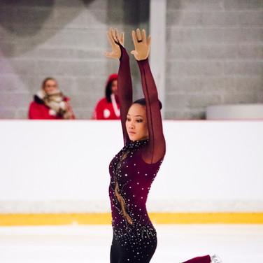 Gian-Quen Isaacs during her Short Program at the ISU Junior Grand Prix Riga Cup 2019.
