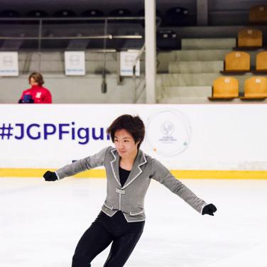 Kao Miura performing his short program at the ISU Junior Grand Prix Riga Cup 2019.