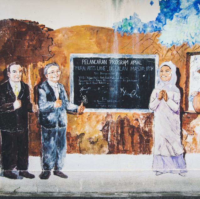 Street art, Ipoh Old Town.