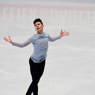 Nam Ngyen performing his short program at the ISU World Championships 2018.