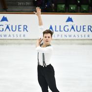 Jonathan Hess performing his short program at the 2020 Bavarian Open.