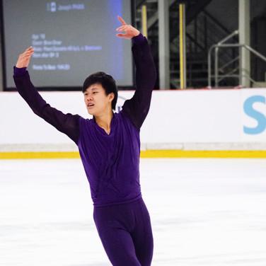 Joseph Phan performing his free program at the ISU Junior Grand Prix Riga 2019.