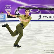 "Roman Savosin performing his short program at the ISU Grand Prix Rostelecom Cup 2020.  Роман Савосин в короткой программе на ИСУ Гран-при ""Кубок Ростелеком"" 2020."