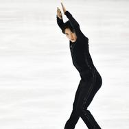 Yuto Kishina performing his short program at the 2020 Bavarian Open.